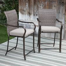 wicker bar height patio set belham living palma all weather wicker bar stools set of 2
