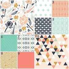 Coral And Mint Baby Bedding by Pink Navy Baby Bedding Tags Navy And Coral Baby Bedding Navy And