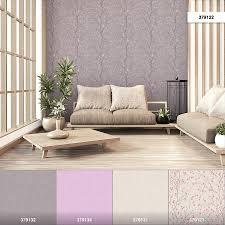 vliestapete kirschblüten floral grau rosa braun 37912 2