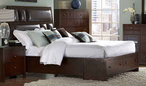 tidy king bed with storage underneath modern king beds design