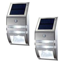 stainless solar security wall light best solar garden lights