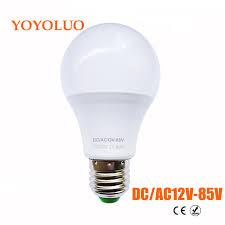 yoyoluo led bulb e27 3w 6w 9w 12w watt ac dc 12v 24v 36v 12 85v