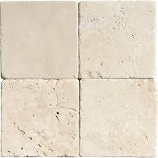 now available travertine tile chiaro tumbled 4x4 in beige color