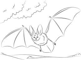 Rodrigues Fruit Bat Hanging On Tree Coloring Page