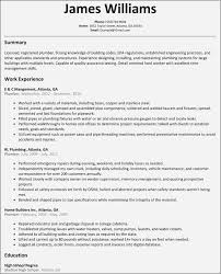 Plumber Resume Examples Free Awesome Templates
