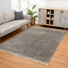 details zu teppich wohnzimmer hochflor grau deko schlafzimmer soft shaggy mit fransen