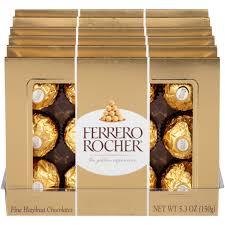 Ferrero Rocher Christmas Tree Stand by Ferrero Rocher Chocolates Fine Hazelnut 5 3 Oz Walmart Com