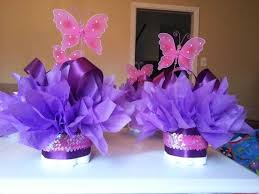 Butterfly Mini Diaper Cakes Customize Your Table Centerpiece For Baby Shower Or First Birthday