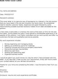 Bank Teller Cover Letter Example Administrative Assistant Cover