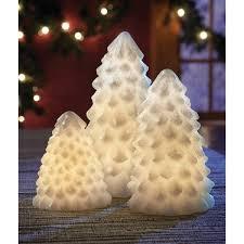 Apothecary Amp Company 3 Piece LED Christmas Tree Set