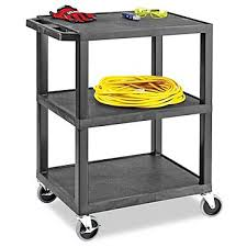 Uline 3 Shelf Utility Cart