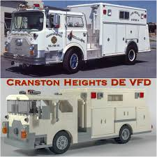 Lego MOC: Cranston Heights DE Volunteer Fire Dept Mack CF Rescue ...