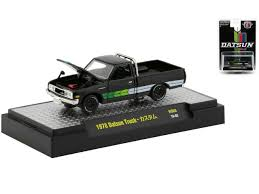 100 Datsun Truck DATSUN TRUCK HOBBY EXCLUSIVE AUTO TRUCKS LOWERED CHASSIS 164 SCALE DIECAST CAR MODEL BY M2 MACHINES 32500HS03
