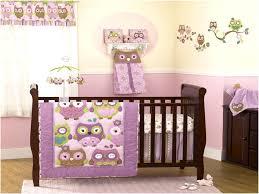 Purple Owl Crib Bedding Set