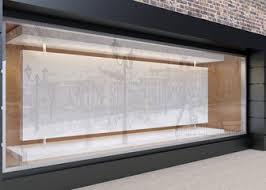 Blank Mock Up Of Store Street Showcase Window In A City 3D Rend