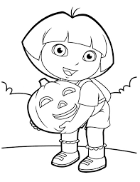 Dora Halloween Coloring Pages 12
