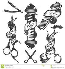 Barber Shop Hair Design Ideas by Barbershop Hair Salon Logo Vintage Vector Set Hipster And Retro