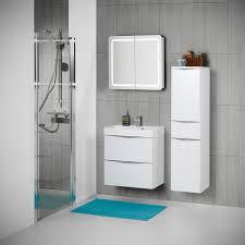 scanbad badmöbel set 60 cm mit spiegelschrank samba weiß