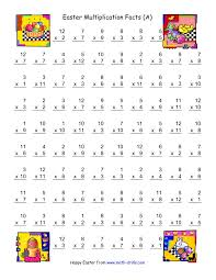 Halloween Multiplication Worksheets 3rd Grade by The Easter Multiplication Facts To 144 A Easter Math Worksheet