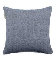 jeté de canapé madura madura enveloppe de coussin chambray indigo 40x40 cm bleu maison