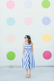the blue striped dress perfect for travel art in the find
