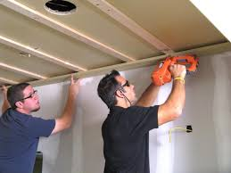 Installing Drywall On Ceiling In Basement by How To Install A Tongue And Groove Plank Ceiling How Tos Diy