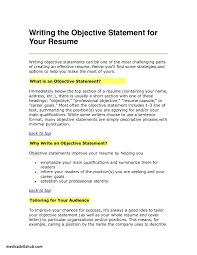 Objective Statement Examples For Resume New Profile Sample Phrases