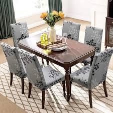 universal stretch stuhlhussen 6er set stuhlbezug für stuhl esszimmer herbstlaub