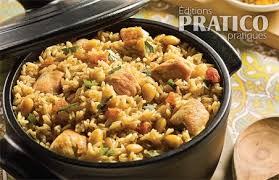 cuisine avec du riz casserole de riz et poulet à l indienne recettes cuisine et