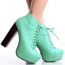 Hidden Platform Booties High Heels Ladies Dress Shoes Womens Lace Up Ankle Boots