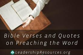 Bible Verses And Quotes On Pastors Preaching The