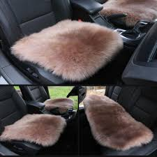 Luxury Faux Wool Auto Seat Cushion Car Winter Seat Cushion Warm Car ...