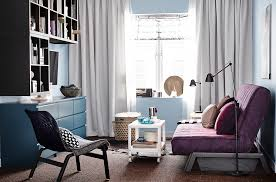 light blue as a neutral color scheme for living room with a