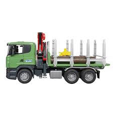 100 Bruder Logging Truck Toys Scania RSeries Scale 116 Crane Timber With 3
