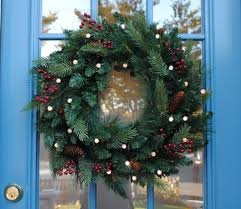 Unlit Artificial Christmas Trees Walmart by 55 Best Christmas Door Wreath Ideas 2017 Decorating With