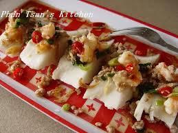 salted rice flour cake banh duc rezepte