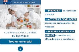 recherche chef de cuisine cuisinier et chef cuisinier en australie guide professionnel 2017