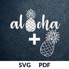 2 Designs Paper Cutting Template Stencil Aloha Pineapple
