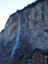 Rock Waterfall Mountain Snow Range Cliff Steep Terrain Wall Ridge Geology Alps Landform Free