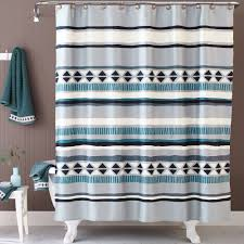 Blue Medallion Curtains Walmart by Better Homes And Gardens Graphic Stripe Shower Curtain Walmart Com