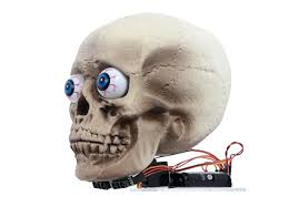 Motion Activated Halloween Decorations by Pololu Motion Tracking Skull Halloween Prop
