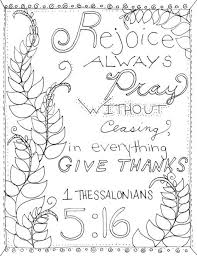 1 Thessalonians 516 Bible Coloring Page Journaling Inspiration Childrens