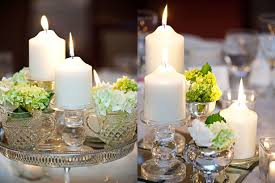 Diy Cheap Wedding Reception Decorations With Crystal Flower Vases And Candles Medium Size