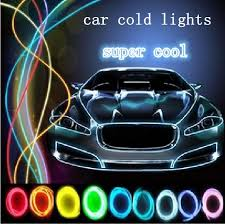 Free Shipping Orange Led Cold Light Decorative Strip Car Interior Lights Accessories Retail Wholesale M12574 Mouldings Cheap