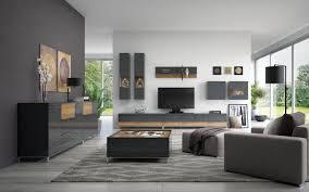 wohnzimmer komplett set f vaitele 10 teilig farbe anthrazit hochglanz wal