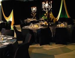 Flowers Reception Centerpiece Decor Yellow Lighting Black Orchids