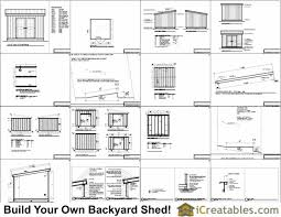 12x12 Storage Shed Plans Free by 12x12 Lean To Shed Plans Icreatables Com