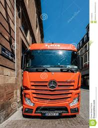 100 Truck Stores REd Mercedes Benz Actros Parked In City Editorial Image