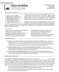 Vice President Resume Awesome Of Technology Operations Jk Resumes
