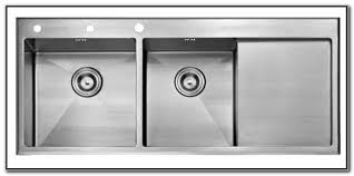 double sink with drainboard stainless steel sink and faucets